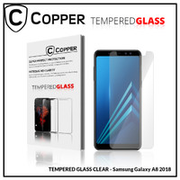Samsung A8 2018 - COPPER TEMPERED GLASS FULL CLEAR