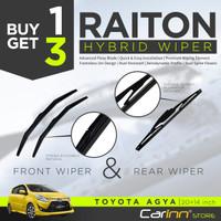 Raiton Wiper Hybrid BUY ONE GET 3 FOR TOYOTA AGYA