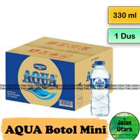 AQUA Mini Dus [330 ml x 24 Botol] GOJEK / GRAB ONLY - JLU