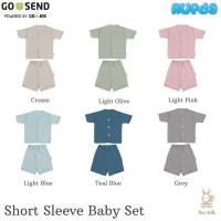 Nice Kids Short Sleeve Baby Set Piyama Pendek Celana Bayi Polos