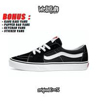Sepatu Vans Sk8 Low Black White Original