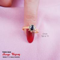 Cincin Wanita / Blue Saphire / Bunga Tanjung Gold