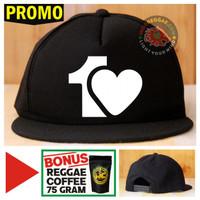 Topi Snapback ONE LOVE Bonus Reggae Coffee