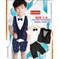 baju setelan 1-3 th suspender anak bayi cowok laki pesta kondangan