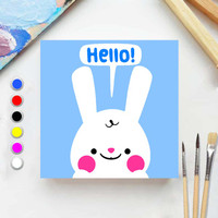 Paint by number ANIMAL HELLO DEAR 20x20 Painting kit/Set Melukis