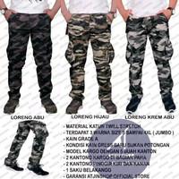 Celana Panjang Camo Tactical Army Pria Bahan katun Twill Stretch