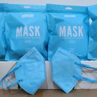 Masker KN95 Mouson Face Mask Isi 10pcs Masker KN 95 Mouson isi 10Pcs - Biru Muda