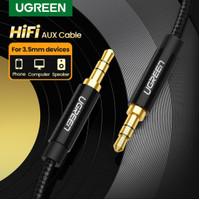 Ugreen Nylon Kabel Audio Jack 3.5 mm Extension 100 cm Kabel Aux 3.5mm