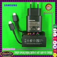 Charger Samsung Galaxy A72 Original 25 Watt Super Fast Charging - Hitam