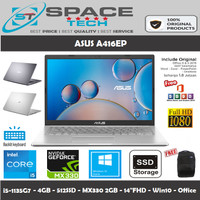 LAPTOP ASUS A416EP i5-1135G7 4GB 512GB SSD NVIDIA MX330 14 WIN10 OHS