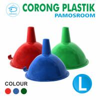 Pamosroom Corong Air Mini Kecil Corong MInyak Plastik Funnel 12cm - Ra