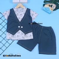 Setelan Angry Vest uk 6-24 Bulan / EXPORT Bahan Kaos Anak 1-2 Tahun