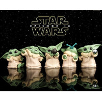 Star Wars BABY YODA Action Figure Mandalorian Set 5 pcs - ISI 5