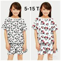 Baju Setelan Anak Perempuan / Baju Rumahan umur 5-12 Tahun