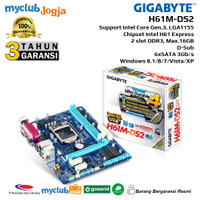 GIGABYTE Motherboard Intel H61 LGA1155 2xDDR3 Micro ATX GA-H61M-DS2