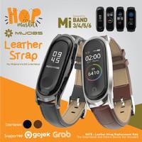 MIJOBS MiBand 6 Leather Wrist Strap Kulit for Xiaomi Mi Band 6 5 / 4 3