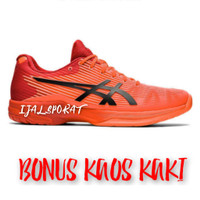 Sepatu Tennis Asics Solution Speed Tenis Sepatu Bulu Tangkis Olahraga - Orange, 39