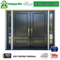KPD38 - Set kusen pintu utama kusen depan pintu dua kayu mahoni