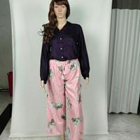 Celana Kulot termurah Wanita Motif Bunga