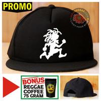 Topi Snapback RASTAMAN Bonus Reggae Coffee