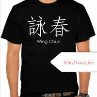 KAOS - BAJU MANDARIN WING CHUN WORDS - TSHIRT WING CHUN