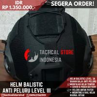 Helm Tactical Hitam Anti Peluru / Baja / Balistic + Cover Helm