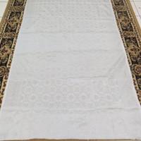 Kain Songket Palembang Meteran Putih (Harga Per 1/2meter = 50cm)