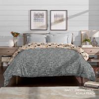 King Rabbit Bed Cover Ukuran Single 160x230 cm Bambu Happy Ending Grey