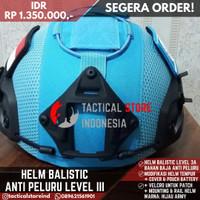 Helm Tactical Biru UN PBB Anti Peluru / Baja / Balistic + Cover Helm