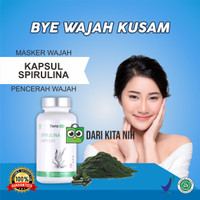 Masker Spirulina I Masker Wajah Pemutih Penghilang Jerawat isi 50 kaps