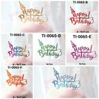 GR-TI-0065 Cake topper hiasan kue tulisan happy birthday ulang tahun