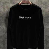 T-shirt Time Off Lengan Panjang / Baju Kaos Distro Pria Wanita