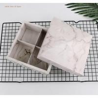 Kotak Gift Box Hampers Slot Sekat / Kotak Hadiah Skat Cookies Marmer