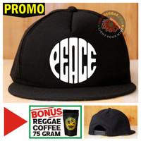 Topi Snapback PEACE Bonus Reggae Coffee