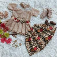 Set Moci Kids 3th-6th Baju Anak Perempuan Set Kebaya Anak Perempuan