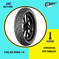 Ban Depan Motor HONDA PCX // IRC SCT-006 100/80 Ring 14 Tubeless
