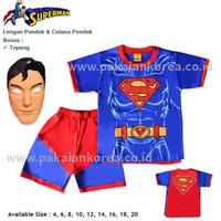 STELAN PENDEK SUPERMAN BAJU KARAKTER SETELAN ANAK KARAKTER SUPERHERO