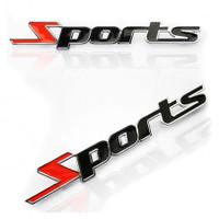 Emblem Otomotif mobil motor sport hitam stiker diy