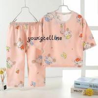 piyama anak import/baju tidur anak set premium / baju santai set