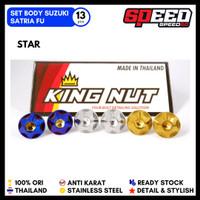 Set Full Baut Body Satria Fu Probolt Stainless King Nut Thailand