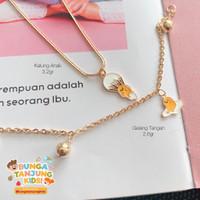 Kalung Rantai Anak / Gudetama / Bunga Tanjung Gold