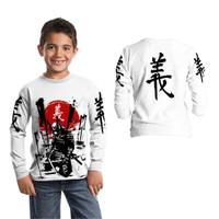 JAPAN SAMURAI Baju Kaos Anak Laki tangan panjang 1 -12 Tahun fullprint