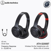 Special Price Audio-Technica ATH-S200BT Wireless Over-Ear Headphones -