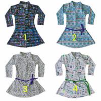 Baju Renang Lengan Panjang Celana Pendek Anak PAUD/TK Motif Cantik