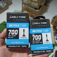 ban dalam sepeda balap roadbike deli tire 700 x 19/23c dan 25 / 28 c