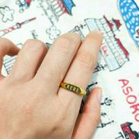 cincin signet request nama elegant emas asli