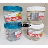 LOCK & LOCK Interlock Tempat Makanan/ Toples Kue/ Bumbu Jar 500 mL