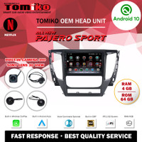 Head Unit Android TOMIKO OEM for New Pajero with Camera 360 Sony Lens