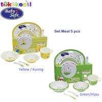 Baby Safe FS65 Feeding Set Meal 5 pcs perlengkapan makan bayi