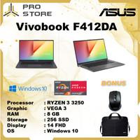 Asus Vivobook F412DA Ryzen 3 3250 8GB 256ssd Vega3 W10 14.0FHD